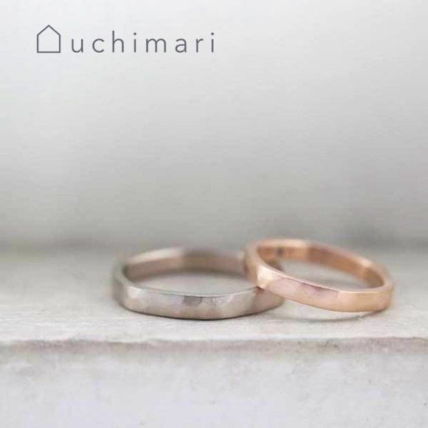 【uchimari(ウチマリ)】平打ちのゆるふわリング