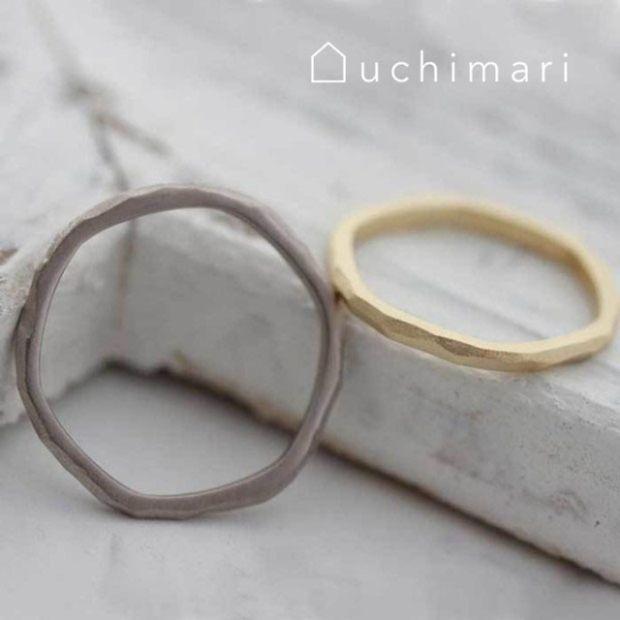 【uchimari(ウチマリ)】やわらか6角形のマリッジリング