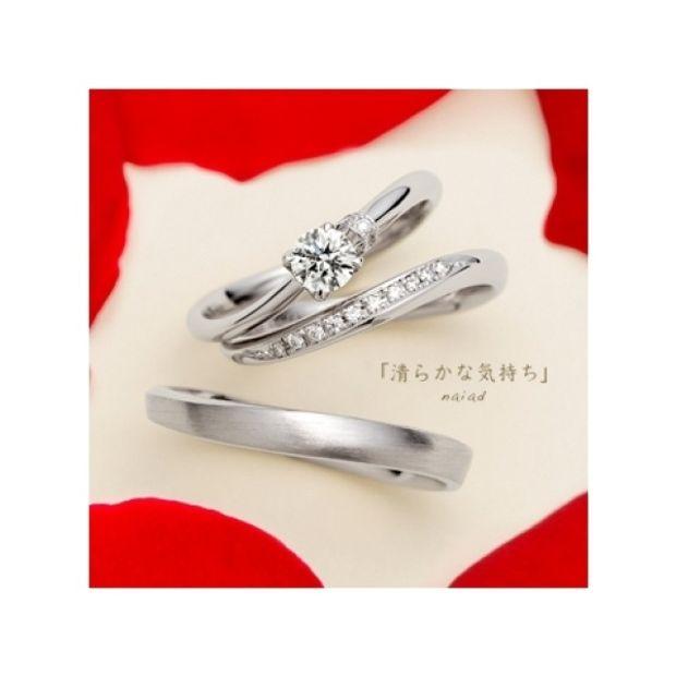 【ジュエリーIKEDA(池田時計店)】【誌面掲載リング】ゆびわ言葉:清らかな気持ち naiad(ナイアード)婚約指輪