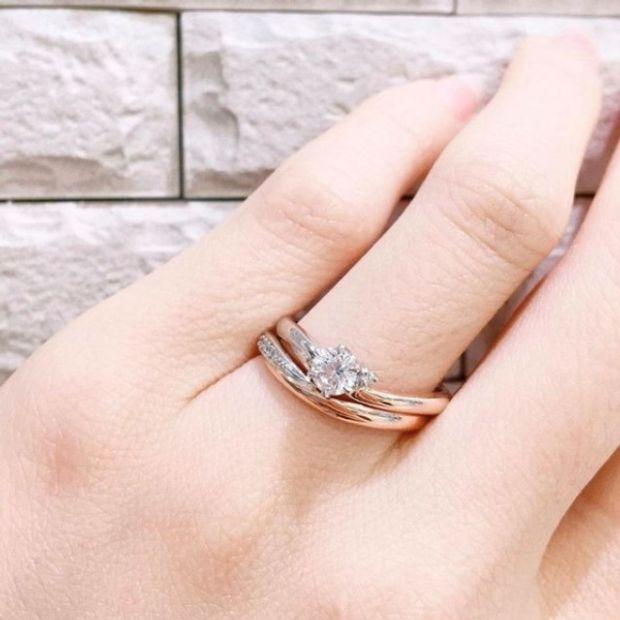 【Bridal Jewelry Fujita(ブライダルジュエリーフジタ)】「CHOCOLAT ショコラ」 セットリング