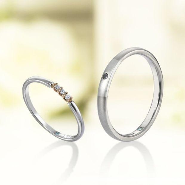 【Bridal Jewelry Fujita(ブライダルジュエリーフジタ)】「Dix/ディス Une/アン Trois/トロワ Cinq/サンク」 マリッジリング