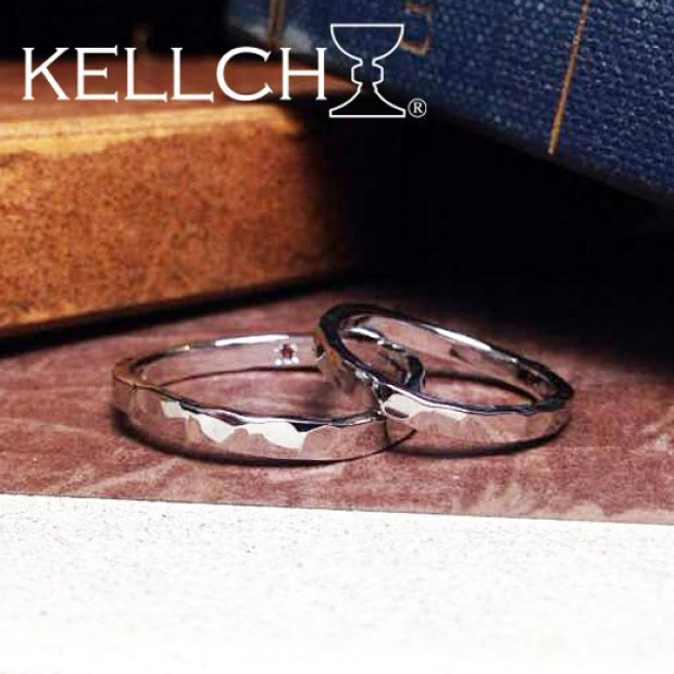 【KELLCH(ケルヒ)】【ケルヒ】結婚指輪手作りプラン「鍛造コース」作品