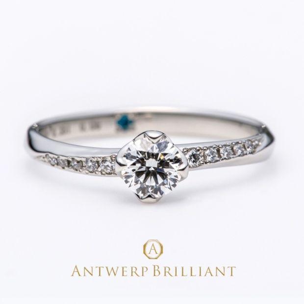 "【BRIDGE ANTWERP BRILLIANT GALLERY(ブリッジ・アントワープ・ブリリアント・ギャラリー)】""Vega"" Side Pave Setting Diamond Ring ""べガ"" サイド パヴェ セッティング ダイヤモンドリング"