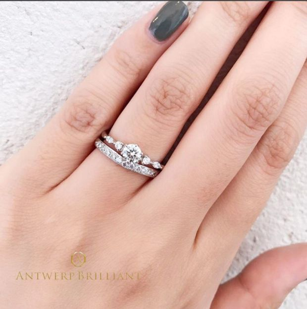 "【BRIDGE ANTWERP BRILLIANT GALLERY(ブリッジ・アントワープ・ブリリアント・ギャラリー)】Five Star Wedding Band Ring ""ファイヴ スター""ウエディングバンド リング"