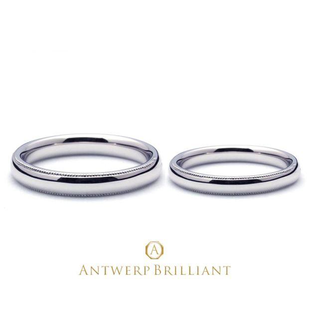 """【BRIDGE ANTWERP BRILLIANT GALLERY(ブリッジ・アントワープ・ブリリアント・ギャラリー)】Custom Ring """"Millegrain""""3mm&2mm カスタムリング ミルグレイン 3mm&2mm"""