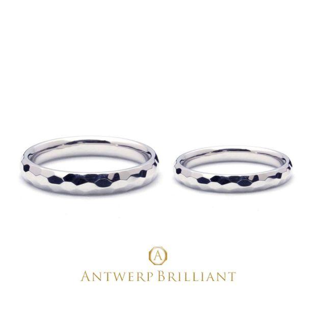 """【BRIDGE ANTWERP BRILLIANT GALLERY(ブリッジ・アントワープ・ブリリアント・ギャラリー)】Custom Ring """"Hammer Finish""""2.5㎜&1.8㎜ カスタムリング ハンマー(つちめ)2.5㎜&1.8㎜"""