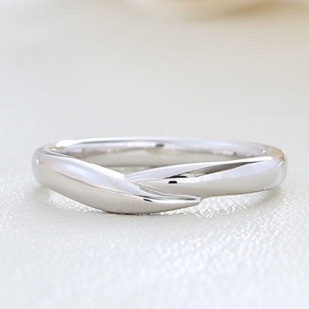 【湘南彫金工房 andfuse】手をつないだイメージの結婚指輪【手作り結婚指輪デザインワックス】