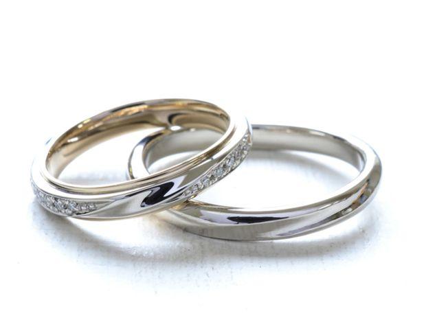 【湘南彫金工房 andfuse】【手作り結婚指輪デザインワックスコース】メレダイアがキラキラな手作り結婚指輪