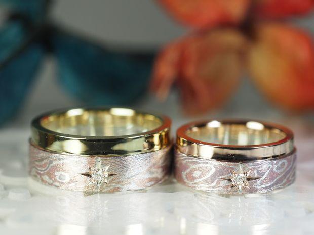 【Antille(アンティール)】オーダーメイド結婚指輪(杢目金)