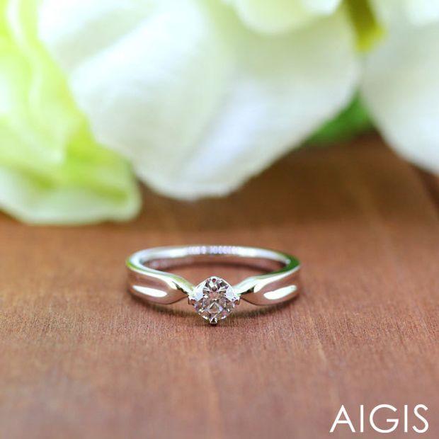 【AIGIS(旧:Jewel HAMA(ジュエルはま))】【手作り婚約指輪】Pt900/0.277ct 3EX