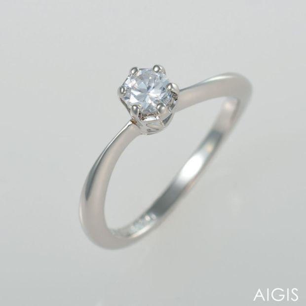 【AIGIS(旧:Jewel HAMA(ジュエルはま))】【手作り婚約指輪】Pt900/0.2ct 3EX