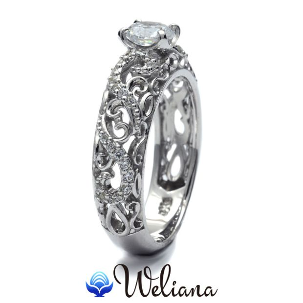 【Weliana(ウェリアナ)】ハワイアンエアルーム Akua エンゲージメント ウェディング ダイヤモンド リング