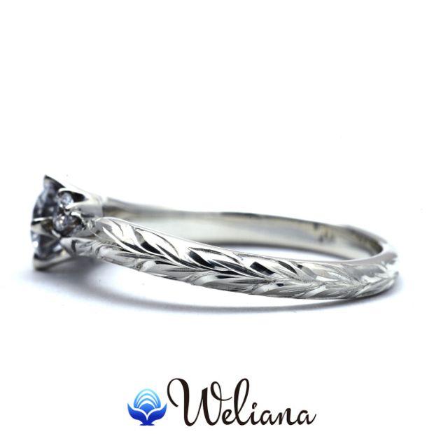【Weliana(ウェリアナ)】ハワイアンエアルーム Malie エンゲージメント  ウェディング ダイヤモンド リング