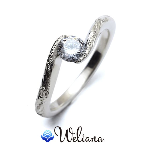【Weliana(ウェリアナ)】ハワイアンエアルーム Moani エンゲージメント ウェディング ダイヤモンド リング