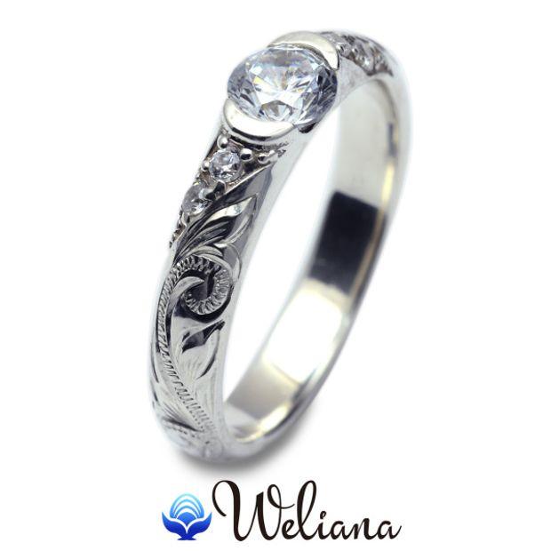 【Weliana(ウェリアナ)】ハワイアンエアルーム Kanoa エンゲージメント ウェディングダイヤモンドリング  婚約指輪