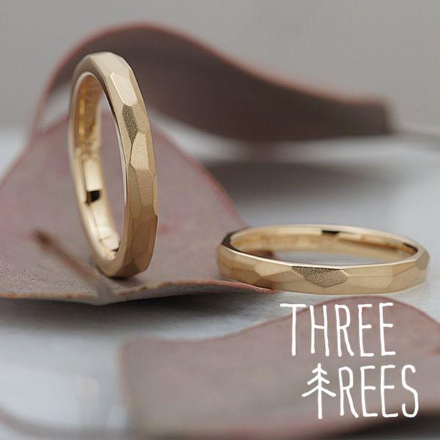 【THREE TREES(スリーツリーズ)】指の動きで表情が変わる結婚指輪はふたりのこだわりの「形」