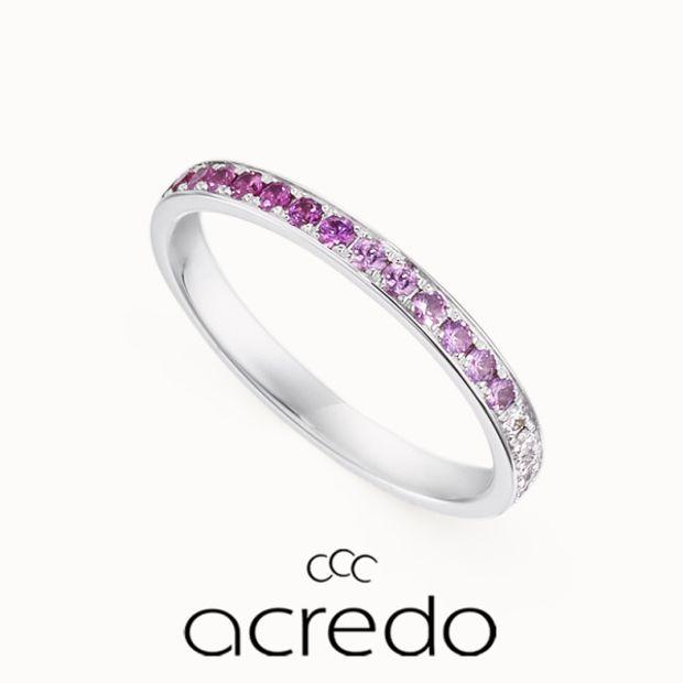 【acredo(アクレード)】ピンク色のグラデーションとダイヤモンドで長く愛用できる大切な婚約指輪に
