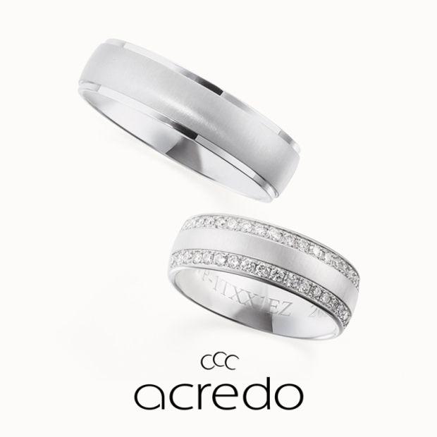 【acredo(アクレード)】【The High Priestess】マットの質感とゆとりのある幅感、メレダイヤを敷き詰めて長く使える大人の結婚指輪に