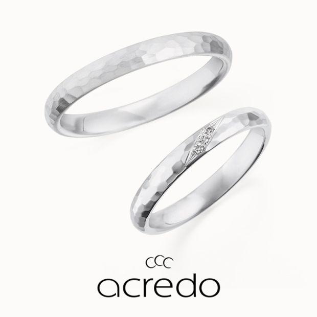 【acredo(アクレード)】【aqua】ハンマーマット仕上げで湖面のきらめきを、ダイヤモンドは湖面に反射した光を表現
