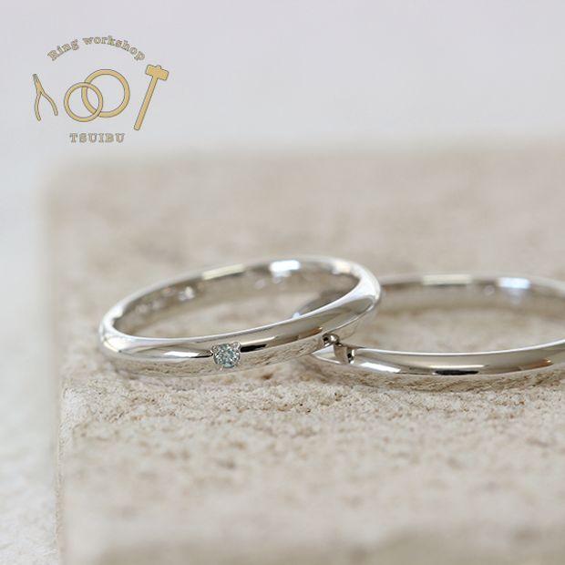【ついぶ工房】【二人の想いが詰まった手作り結婚指輪】プラチナ・甲丸型・鏡面仕上げ