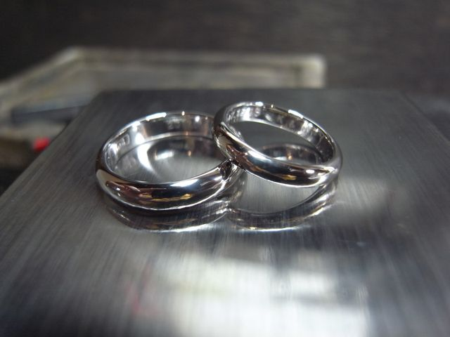 指輪ができあがるのがずっと楽しみでした。