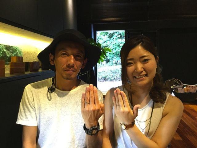 2人の思いが詰まった指輪を造って頂けました。 〜ichi横浜店〜