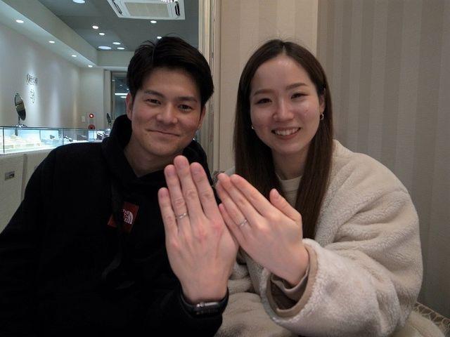 上品な輝きの結婚指輪/銀座店