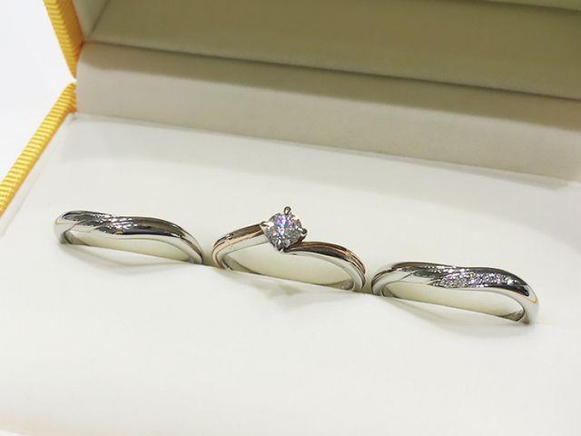 特別なダイヤモンドを使用♪ふたりの重ねた年月を表現