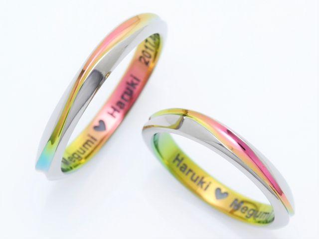 指輪のカラー選びは、ふたりの名前がコンセプト♪