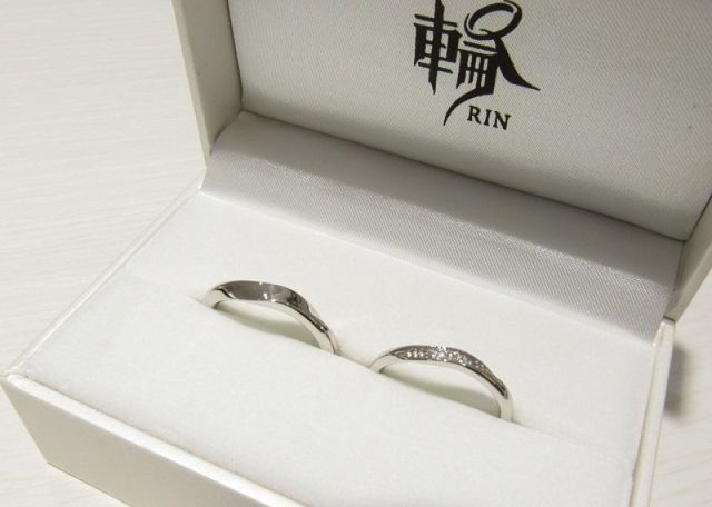 新作の結婚指輪が完成♡
