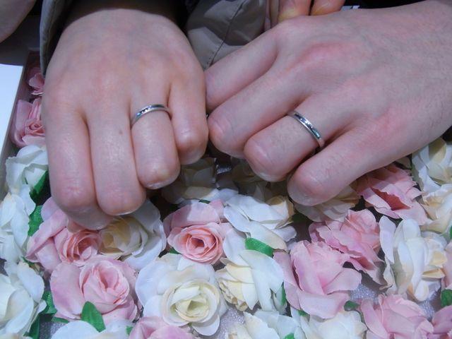 2人で気に入った指輪を見つけられました