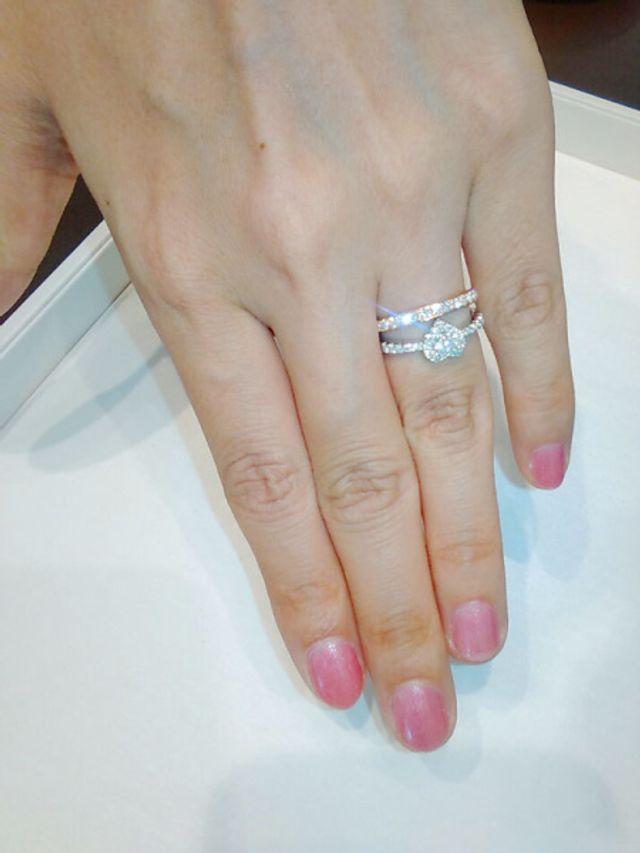 ずっと憧れていたポンテヴェキオの結婚指輪