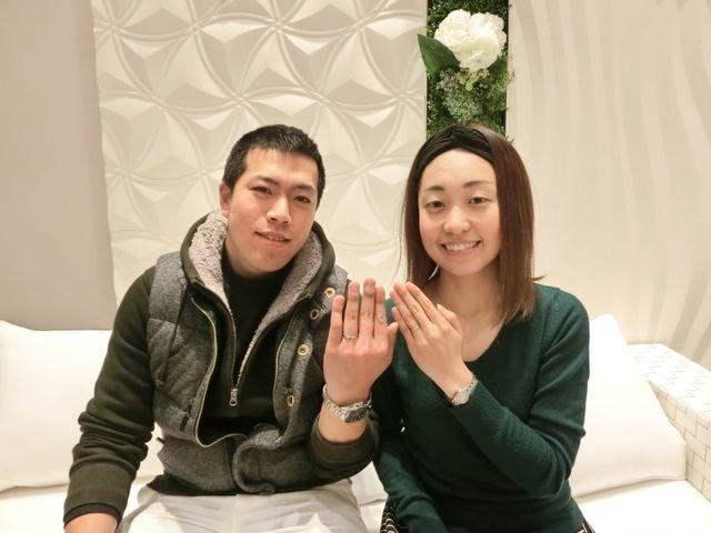 良い結婚指輪を見つける事ができました!!