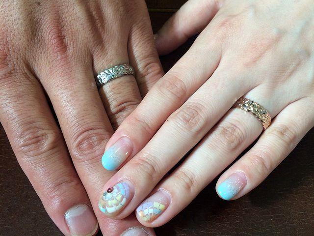 一般的な結婚指輪と違い、他の人とかぶらないデザイン!!