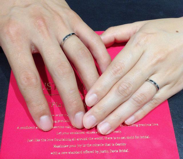 結婚指輪を探し始めてすぐに一目惚れしました!