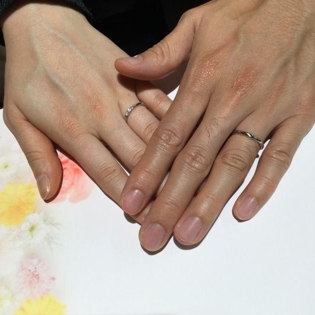 ダイヤがキレイな指輪にピンときました!
