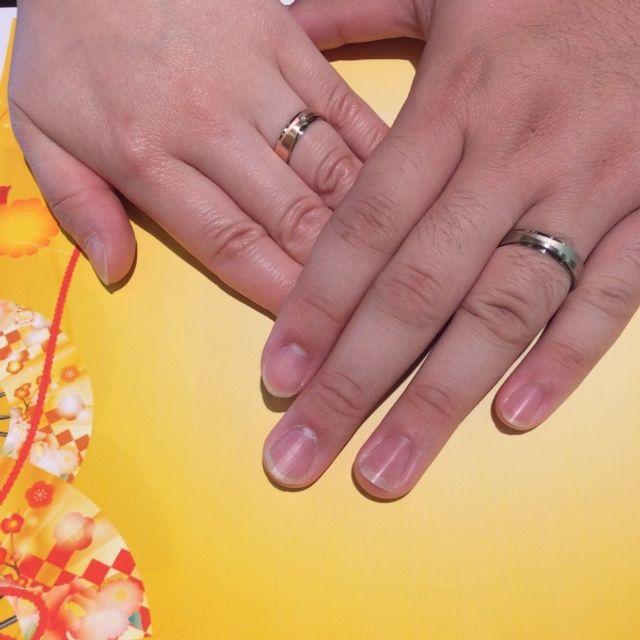 指輪の太さにこだわりました!