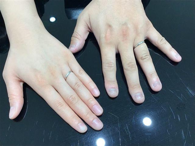 自分達に合う指輪を選ぶことができました。