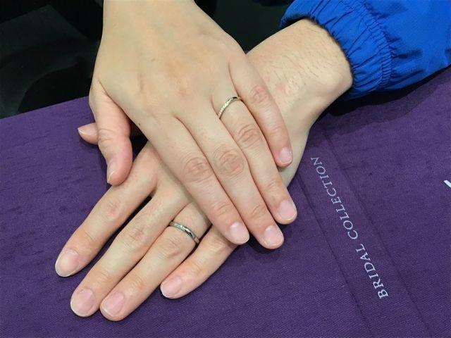 左手の薬指に指輪をつけること、ずーっと夢でした❤