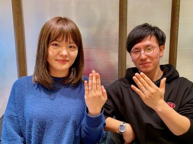 和風リングで木目模様が気に入って杢目金屋の結婚指輪の決定!!