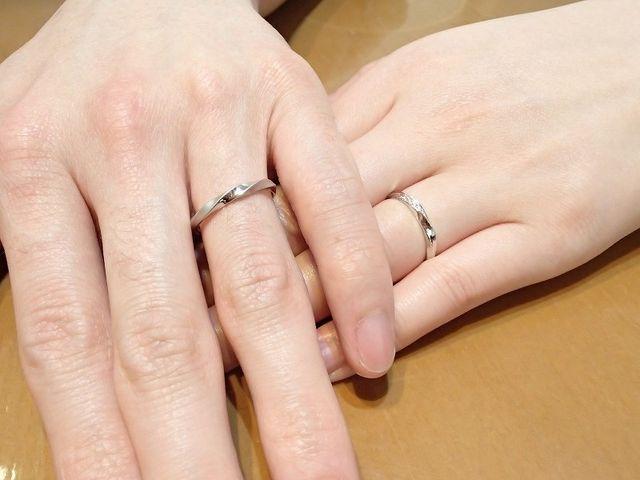 気に入った指輪を選ぶ事が出来ました。
