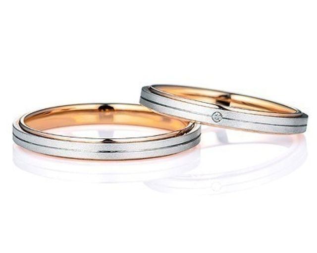 シンプルの中に自分達らしさを出した結婚指環