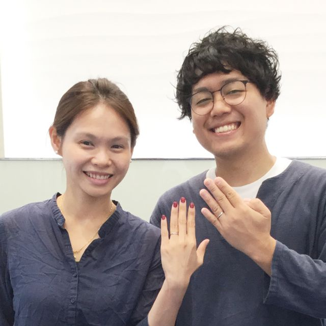 国際結婚!笑顔が素敵なお二人⭐︎