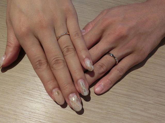 イエローゴールドのオシャレな結婚指輪✩