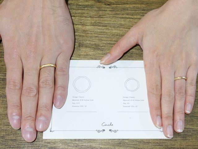 手描きの円でオーダーメイドの結婚指輪を作りました