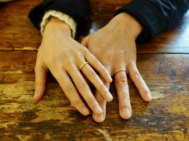 夫婦2人の好みに合わせた指輪を作りました。気に入っています。