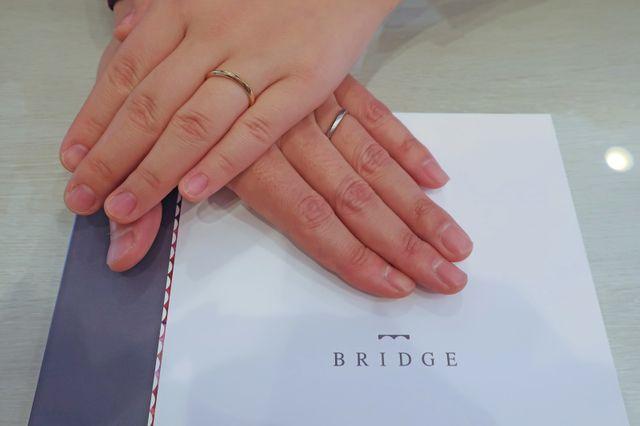 好みの色とデザインの指輪に出会えました。
