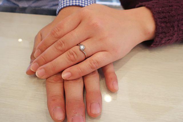 指輪のデザインも名前もどっちも気に入りました!