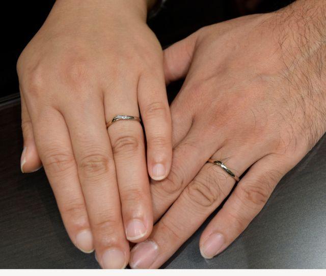 2人で気に入った指輪が見つかり満足です
