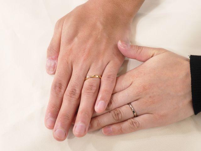 ねじり型の結婚指輪を当日お持ち帰りでご制作